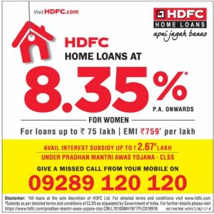 HDFC Housing Loan 8.35% ad