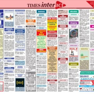 times of india classified page